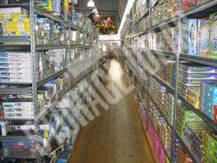 Supermarket shelves with storage ideas watermark